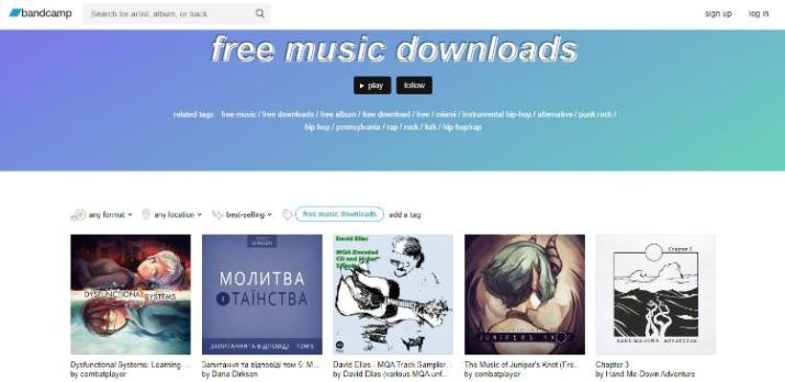bandcamp free music download