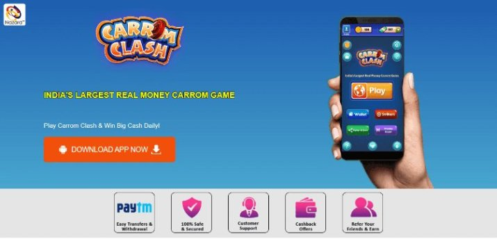 carrom clash earn money