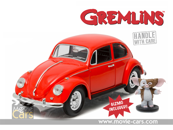 1967 Volkswagen Beetle >> 1967 Volkswagen Beetle Gremlins Movie 1984 With Gizmo Figure 1 24 Diecast Model Car By Greenlight