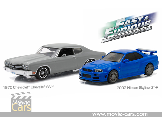 Blue Brian/'s 2002 Nissan Skyline GT-R GREENLIGHT 1:43 Fast and Furious