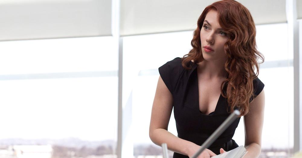 Scarlett Johnasson plays the Black Widow in the Marvel Cinematic Universe.