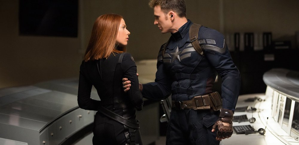 Black Widow teams with Captain America in The Winter Soldier.