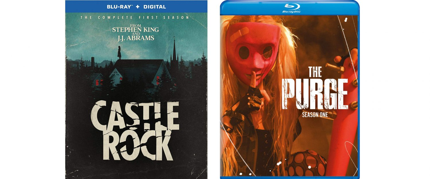Castle Rock and The Purge are both getting first seasons blu-ray releases this week.