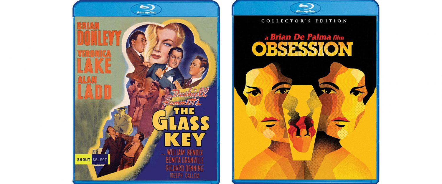 The Glass Key and Obsession both come to Blu-ray this week from Shout! Factory.