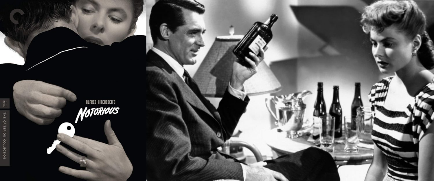 Ingrid Bergman and Cary Grant headline Alfred Hitchcock's Notorious, on Blu-ray today from the Criterion Collection.