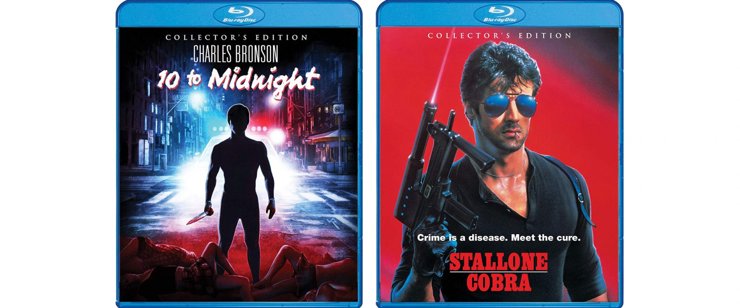 Charles Bronson and Sylvester Stallone lead the charge as 10 to Midnight and Cobra both come to Blu-ray through Shout! Factory.