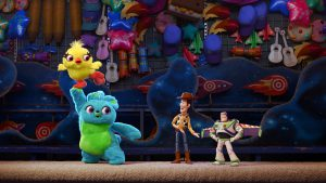 "PICK ME! -- Ducky and Bunny are carnival prizes who are eager to be won. But when their plans are rudely interrupted, they find themselves on an unexpected adventure with a group of toys who have no idea what it feels like to be tacked to a prize wall. Funny men Keegan-Michael Key and Jordan Peele provide the voices of Ducky and Bunny, respectively. Directed by Josh Cooley (""Riley's First Date"" and produced by Jonas Rivera (""Inside Out,"" ""Up"") and Mark Nielsen (associate producer ""Inside Ou""), ""Toy Story 4"" ventures to U.S. theaters on June 21, 2019. ©2018 Disney•Pixar. All Rights Reserved."