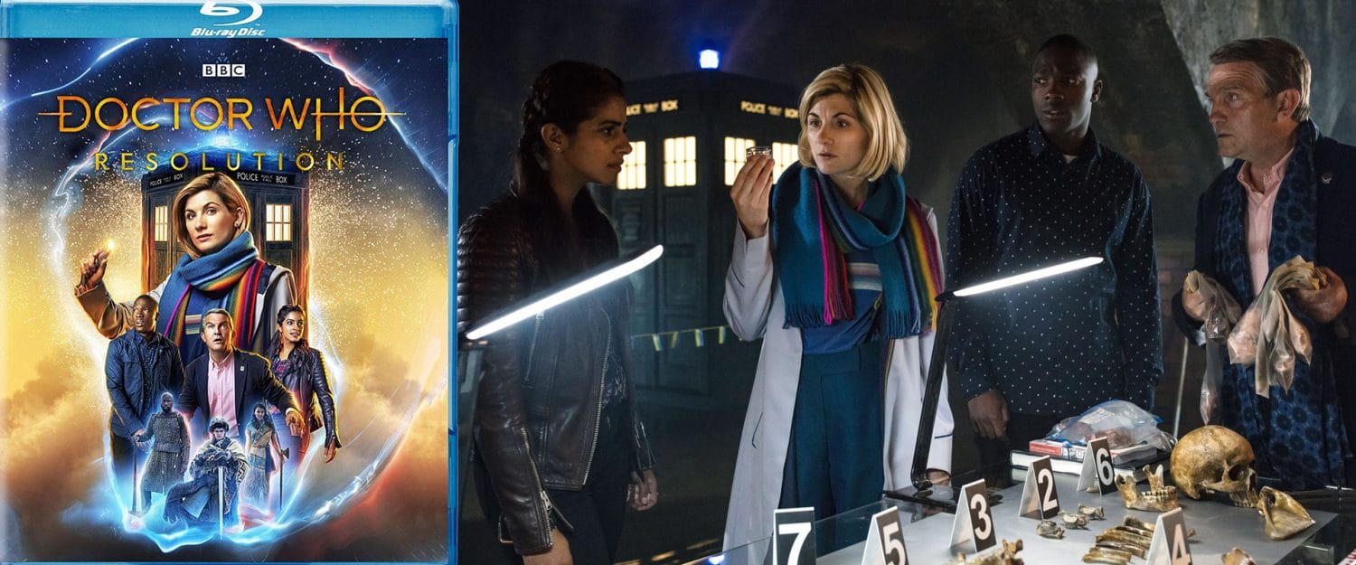 Doctor Who: Resolution brings Jodie Whitaker's 13th Doctor home on DVD and BLu-ray.