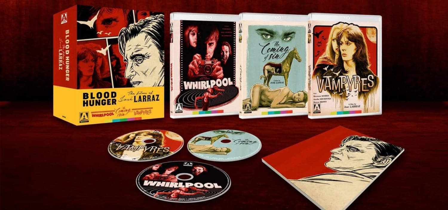 The films are Jose Ramon Larraz are coming out in a complete collection from Arrow.