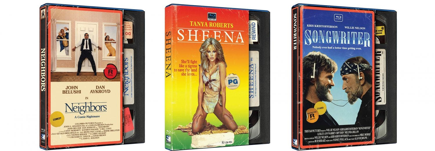Songwriter, Sheena and Neighbors are all getting retro VHS style releases this week.