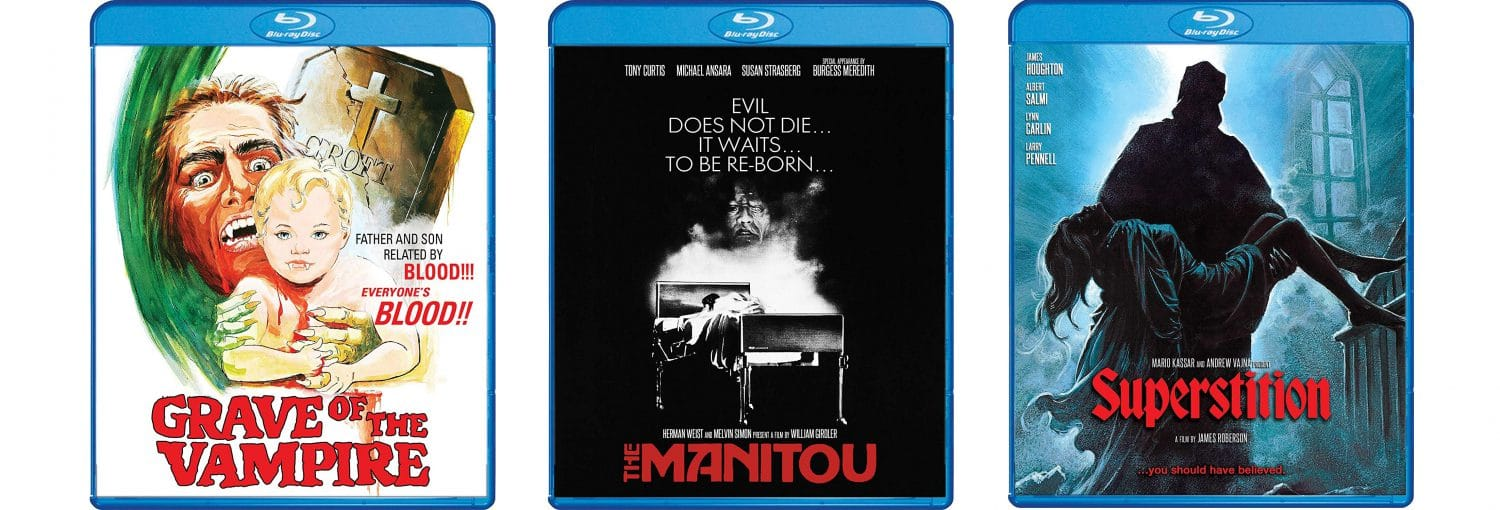 Shout! Factory this week releases The Manitou, Superstition and Grave of the Vampires.