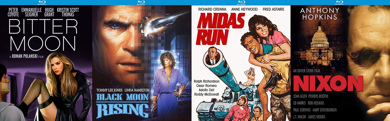 Kino Lorber Studio Classics is this week releasing Black Moon Rising, Midas Run, Nixon and Bitter Moon.