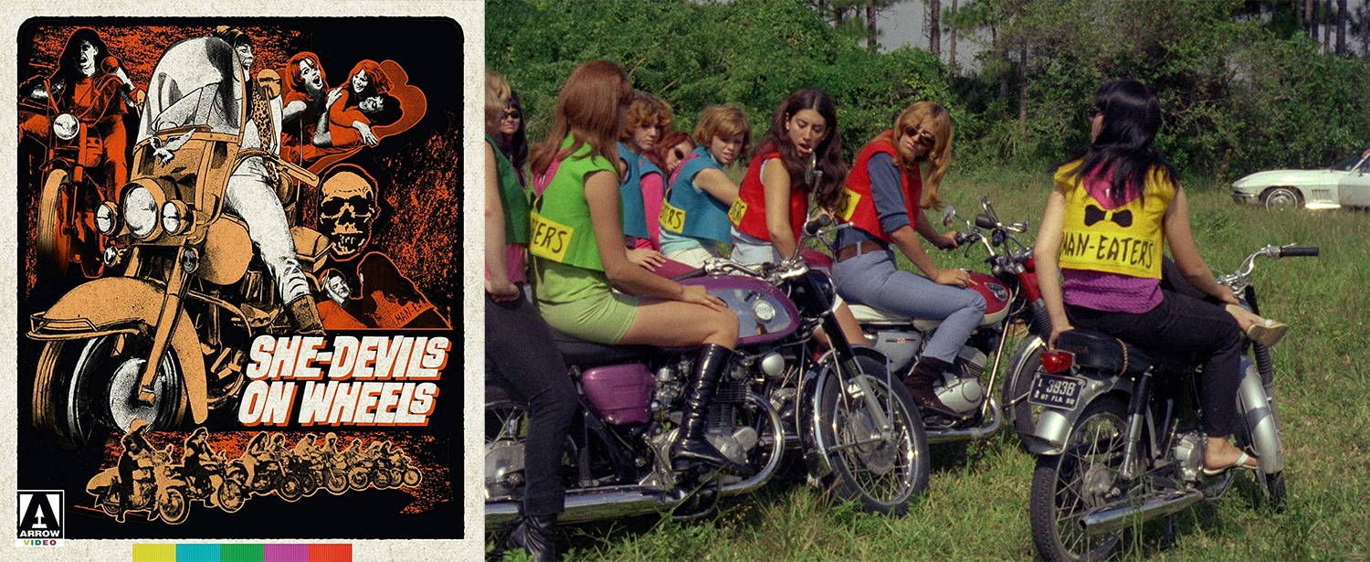 Arrow Video is bringing to blu-ray the cult classic She-Devils on Wheels.