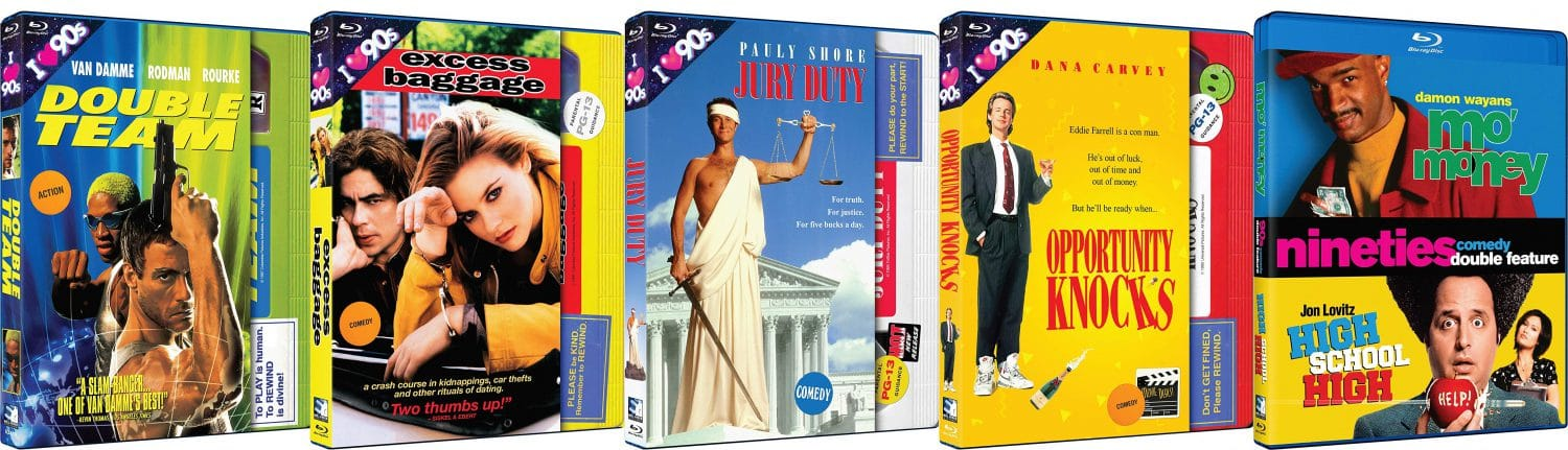 """Look for the wave of retro VHS themed """"I love the 90s"""" blu-rays."""