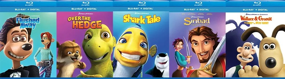 Quite a few DreamWorks Animation movies including Flushed Away, Over the Hedge, Shark Tale, Sinbad: Legend of the Seven Seas and Wallace and Gromit in Curse of the Were-Rabbit.