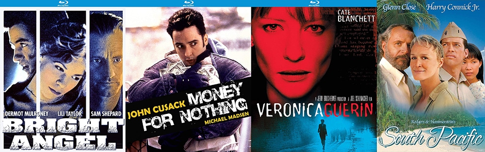 Money For Nothing, Bright Angel and Veronica Guerin join the 2001 telefilm version of South Pacific on Blu-ray this week from Kino Lorber Studio Classics on Blu-ray.