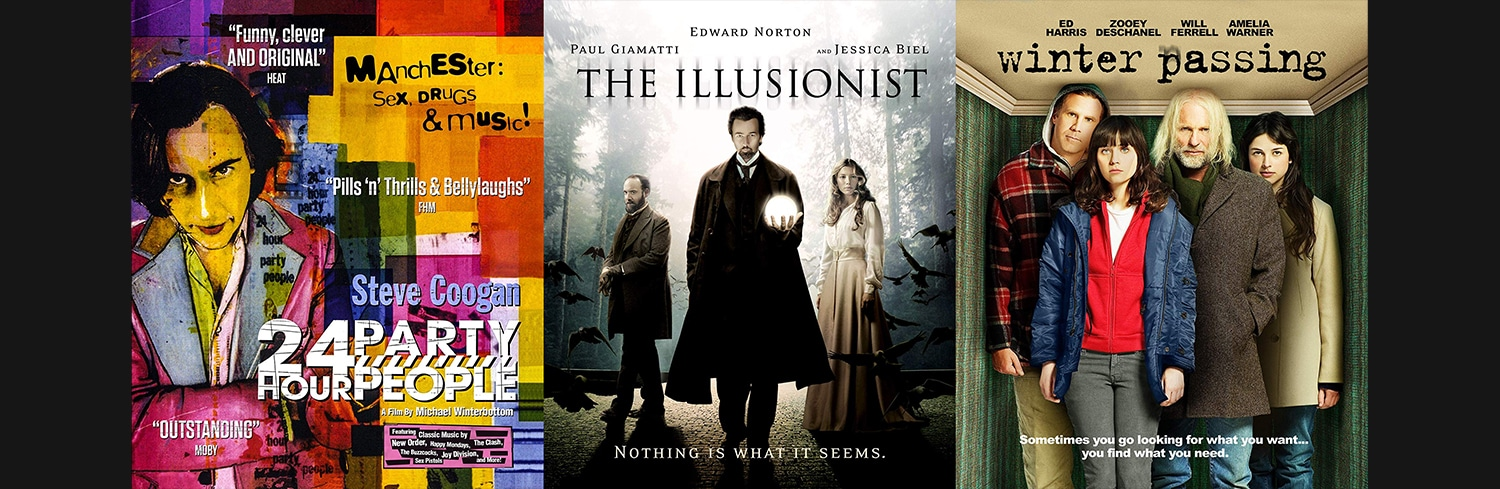 The MVD collection is bringing to Blu-ray 24 Hour Party People, The Illusionist and Winter Passing.