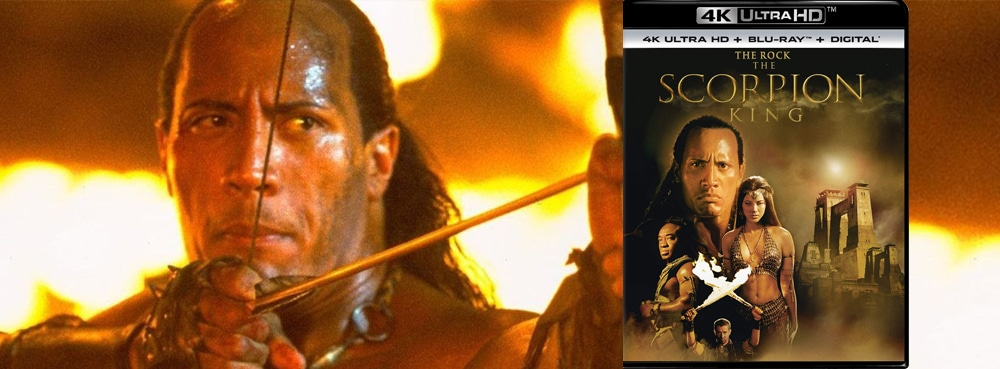 The Rock is The Scorpion King, now on Blu-ray, DVD and 4K Ultra HD.