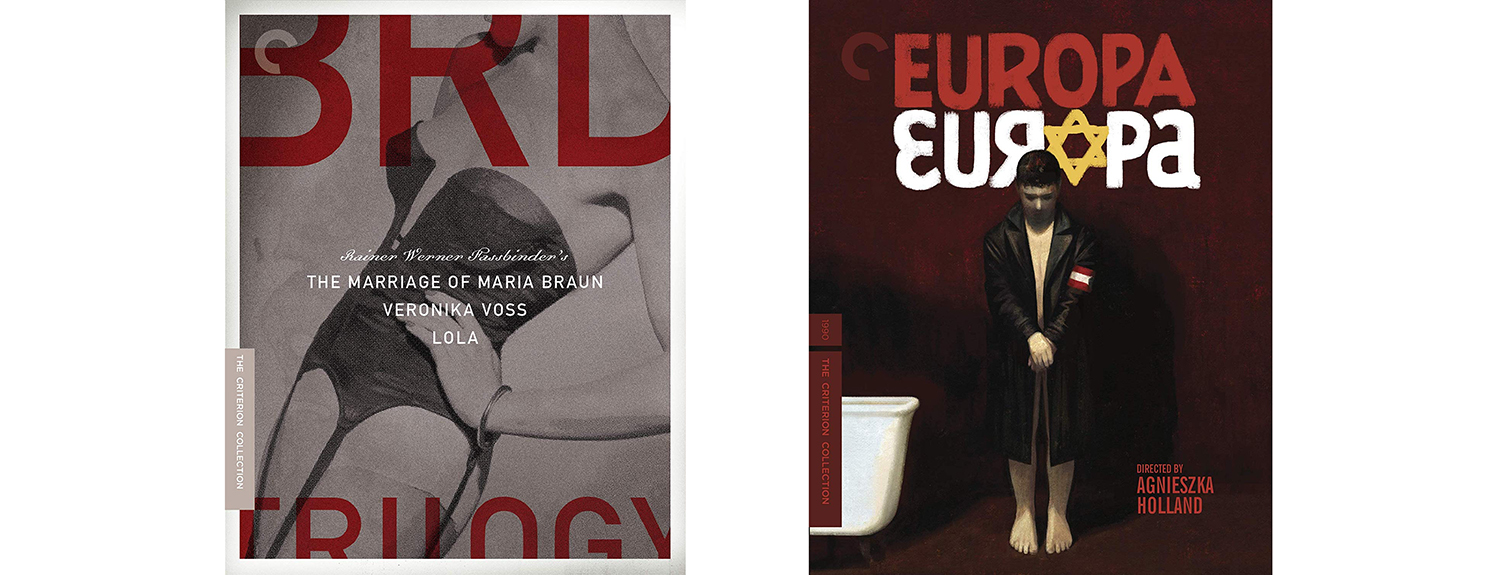 Both the BRD Trilogy and Europa Europa come to Blu-ray this week from the Criterion Collection.