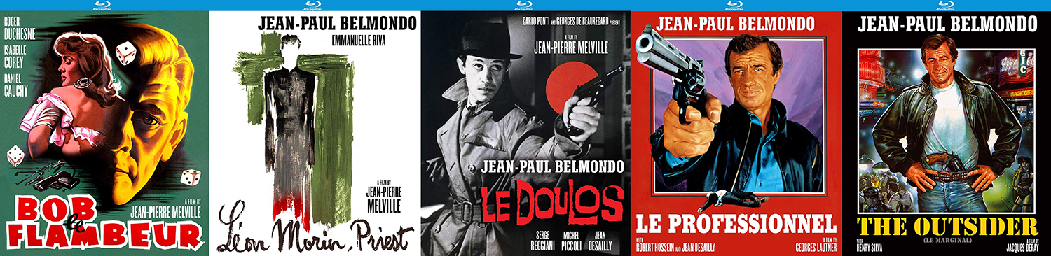 From Kino Lorber Studio classics come Le Doulous 1962 Bob le Flambeur 1956 Le Professionel 1981 Leon Morin, Priest 1961 and The Outside 1983.