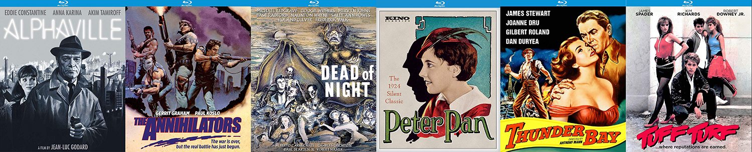 From Kino Lorber this week, look for Peter Pan, Tuff Turf, The Annihilators, Dead of Night, Alphaville and more.