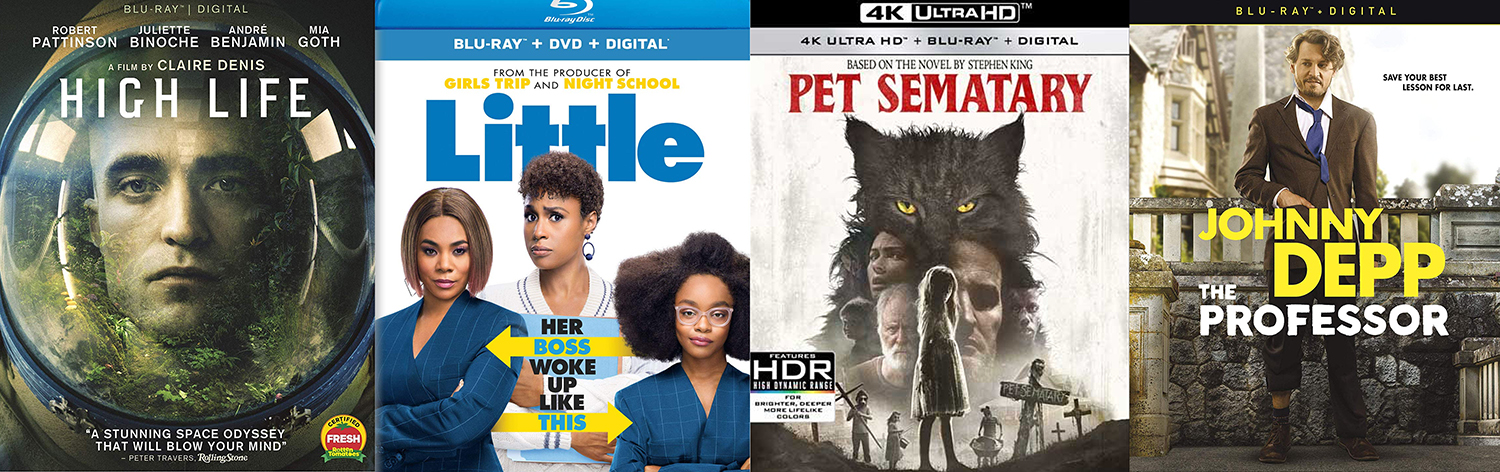 High Life, Pet Sematary, Little and The Professor all come to Blu-ray and DVd this week.