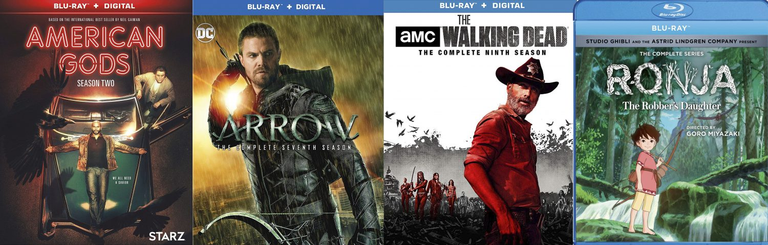 Arrow. American Gods and Walking Dead all come home this week on Blu-ray and DVD.
