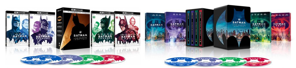 Batman, Batman Returns, Batman Forever and Batman and Robin are hitting 4K Ultra HD.