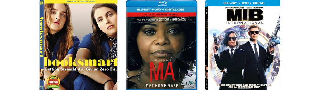 Booksmart, Ma and Men in Black International all debut on Blu-ray this week.