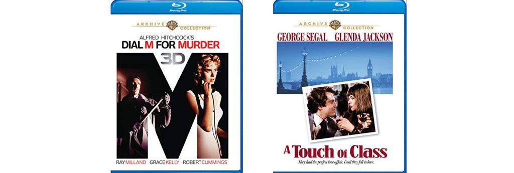 "Warner Archive is bringing (back) to Blu-ray Alfred Hitchcock's ""Dial M For Murder"" alongside ""A Touch of Class""."