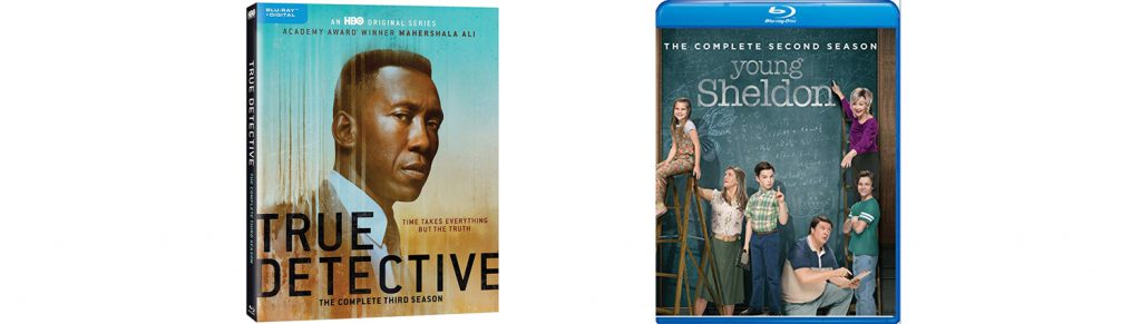 Both True Detective season three and Young Sheldon season two come to Blu-ray this week.