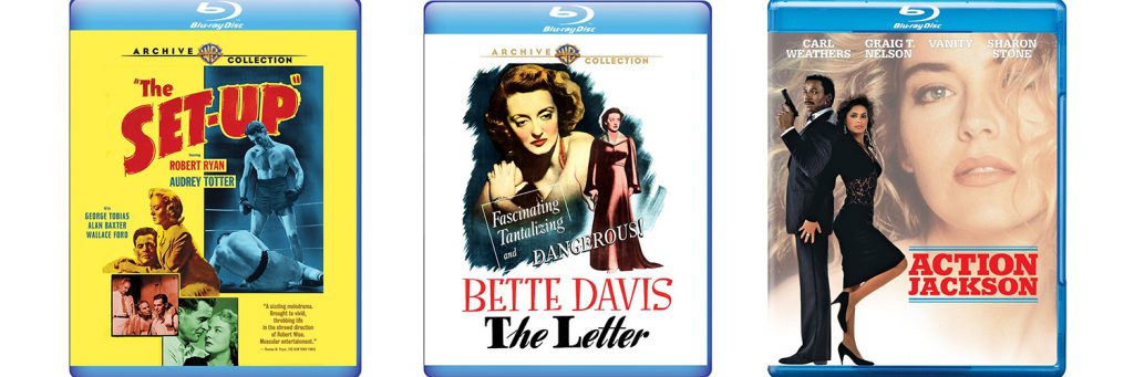 The Set-Up, The Letter and Action Jackson all come to Blu-Ray this week from Warner Archive.