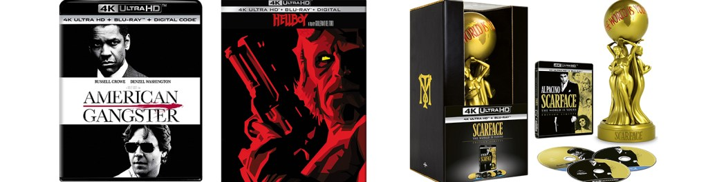 American Gangster, Hellboy and Scarface all come to 4K Ultra HD blu-ray and Dvd this week.