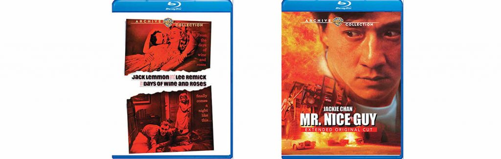 Warner Archive is this week releasing Days of Wine and Roses and Mr. Nice Guy on Blu-ray.