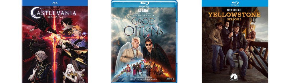 TV titles coming to Blu-ray on November 5, 2019 include Good Omens, Yellowstone Season two and Castlevania season two.