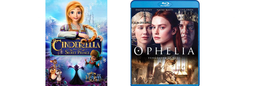 Shout! Factory is bringing both Cinderella and the Secret Prince and Ophelia to Blu-ray and DVD today.