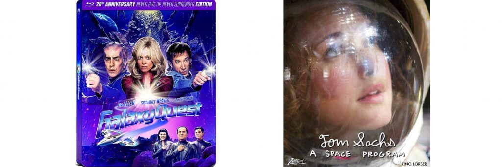Both Galaxy Quest and A Space Program get blu-ray releases this week.
