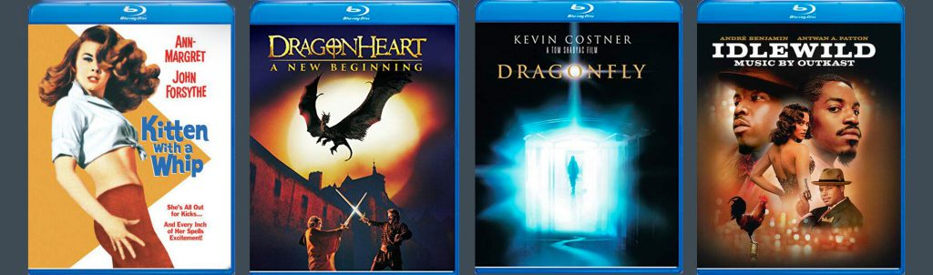 From Universal comes Dragonheart, Dragonfly, Idlewind and Kitten with a Whip.