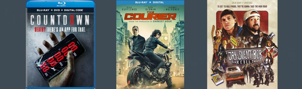 Other new releases on Blu-ray and DVD this week include Countdown, The Courier and Jay and Silent Bob Reboot.