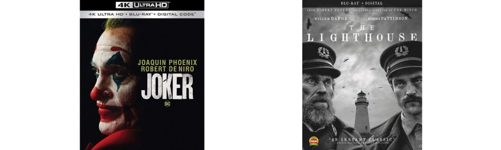 Joker and The Lighthouse are this week's major new releases hitting Blu-ray and DVD.