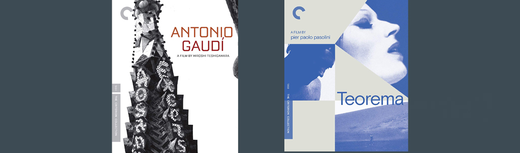 Antonio Gaudi and Teorema come to the Criterion Collection this week.