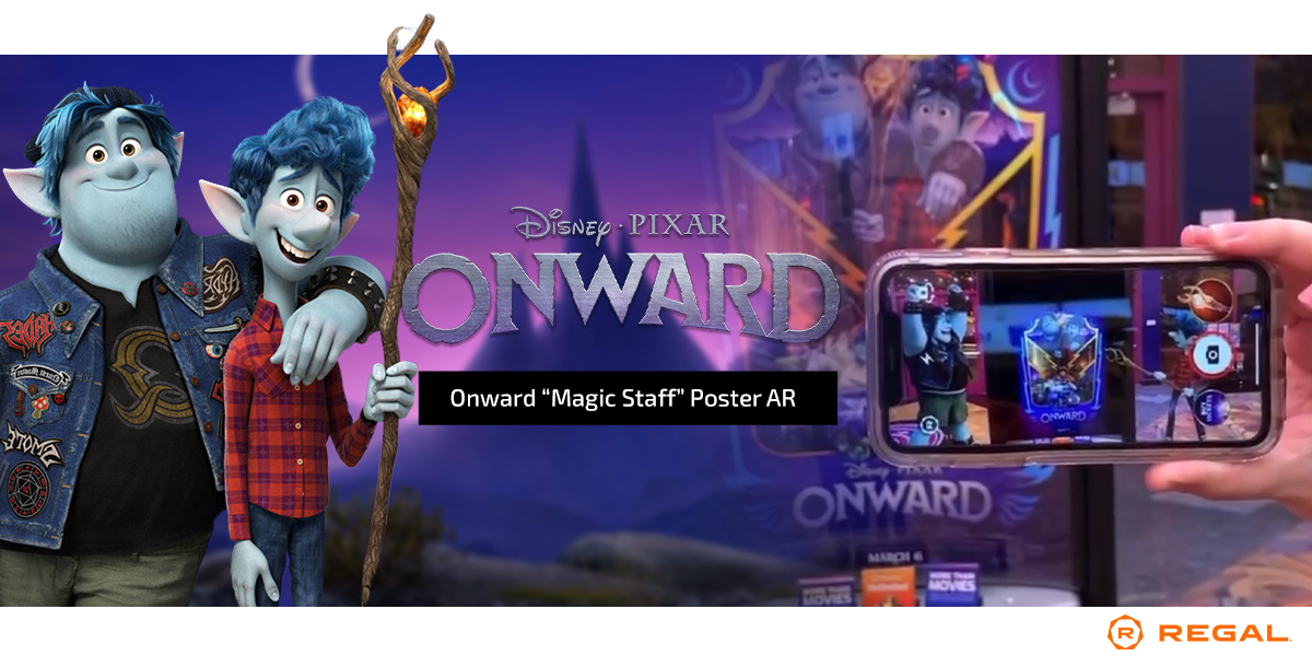 Disney Pixar Onward Ar Poster Activation
