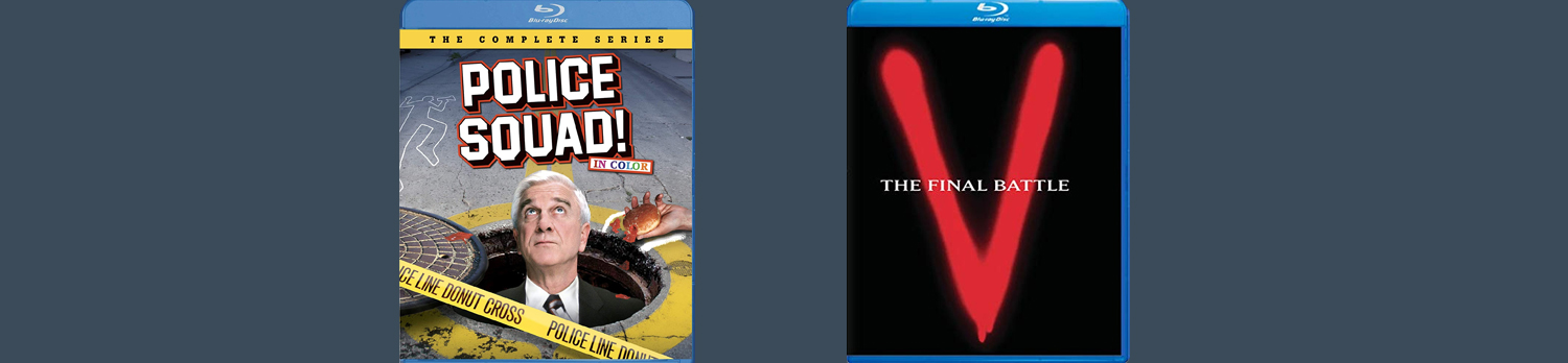 Police Squad and V: The Final Battle are both hitting Blu-ray this week!