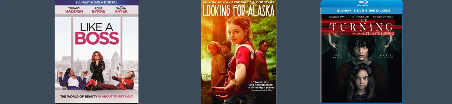 More new releases this week include The Turning, Looking for Alaska and Like a Boss.