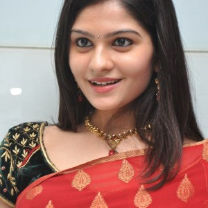 South Indian Actress Priyanka Hot wallpapers in Red Saree