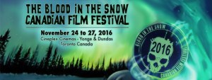 Canadian Horror Festival BLOOD IN THE SNOW Announces Lineup