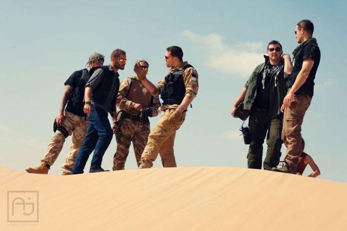 Jamie Chambers in desert