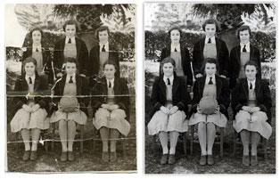 photo restoration example