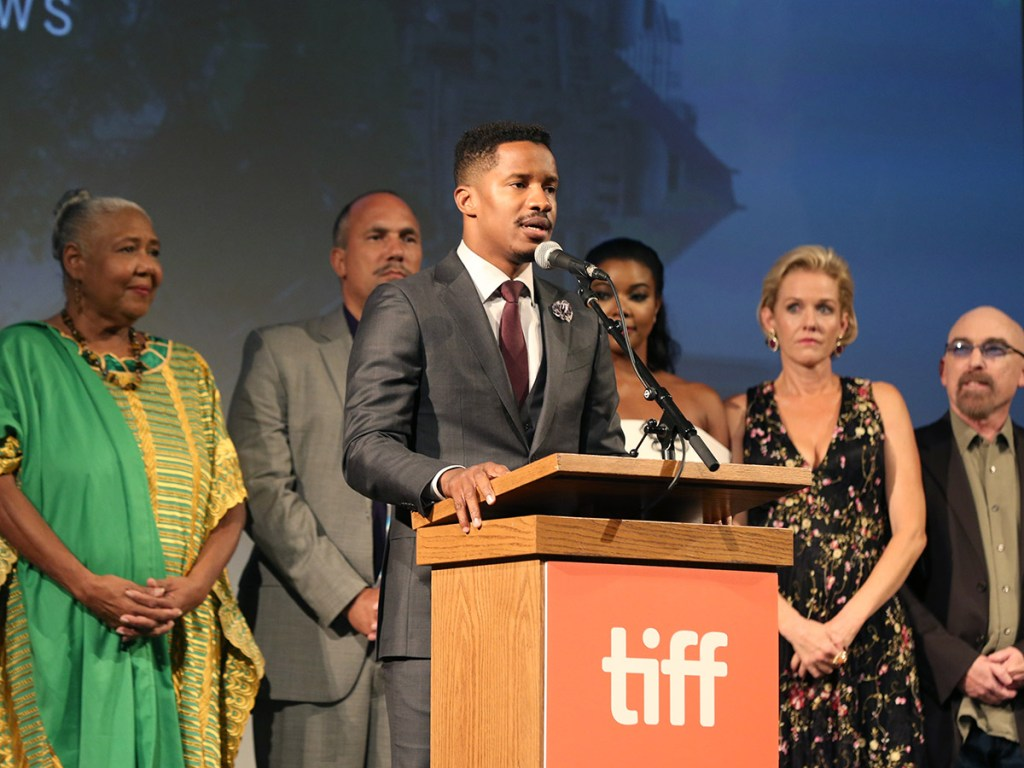 "TORONTO, ON - SEPTEMBER 09: Writer/Director/Actor Nate Parker attends Fox Searchlight's ""The Birth of a Nation"" special presentation during the 2016 Toronto International Film Festival at Winter Garden Theatre on September 9, 2016 in Toronto, Canada. (Photo by Todd Williamson/Getty Images for Fox Searchlight)"