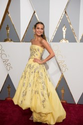 Feb 28, 2016 - Hollywood, California, U.S. - Oscar-nominee, Alicia Vikander, arrives at The 88th Oscars at the Dolby Theatre. (Credit Image: © AMPAS/ZUMAPRESS.com)